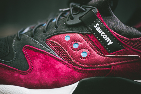 Saucony Grid 9000 Red Charcoal (3)