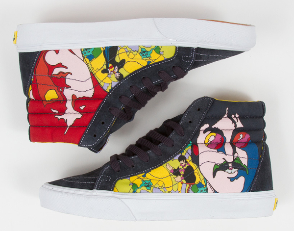 Vans Sk8 Hi x Beatles faces Dress Blue (1)