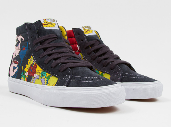 Vans Sk8 Hi x Beatles faces Dress Blue (2)