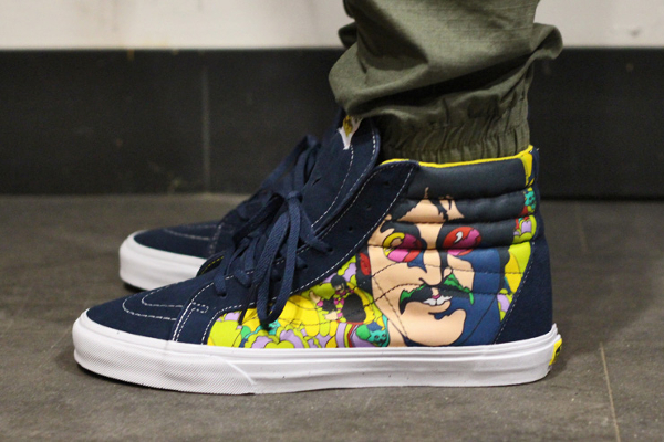 Vans Sk8 Hi x Beatles faces Dress Blue (4)