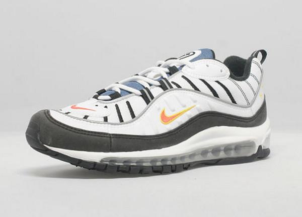 Où acheter la Nike Air Max 98 OG WhiteDeep OrangeBlack ?
