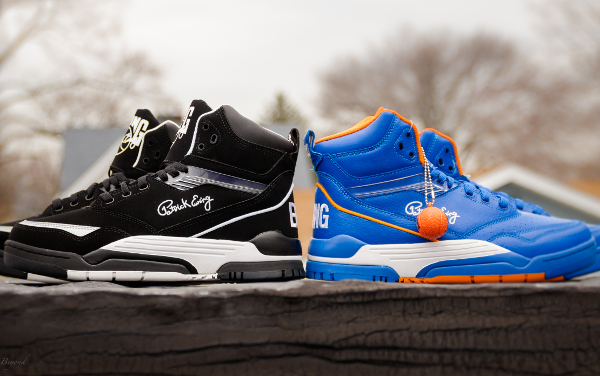 Ewing Center Hi Black Suede & Knicks