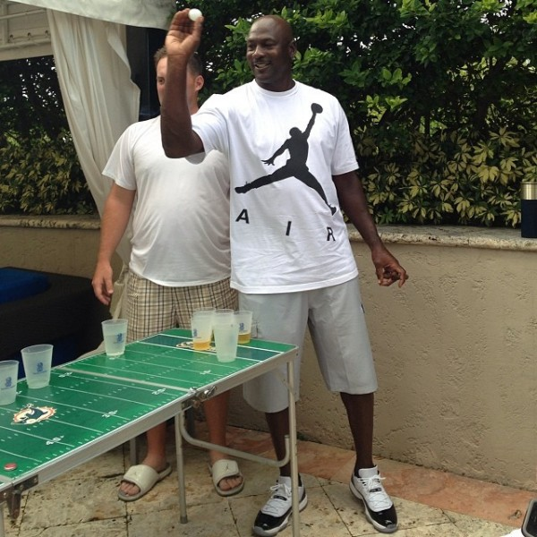 Michael Jordan en Air Jordan 11 Low Concord