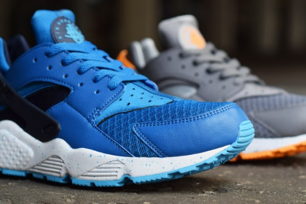 Nike Air Huarache Grey/Atomic Mango & Blue/Obsidian