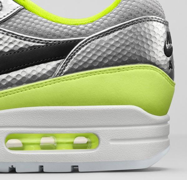 Nike Air Max 1 FB Mercurial Metallic Silver Black-Volt (1)