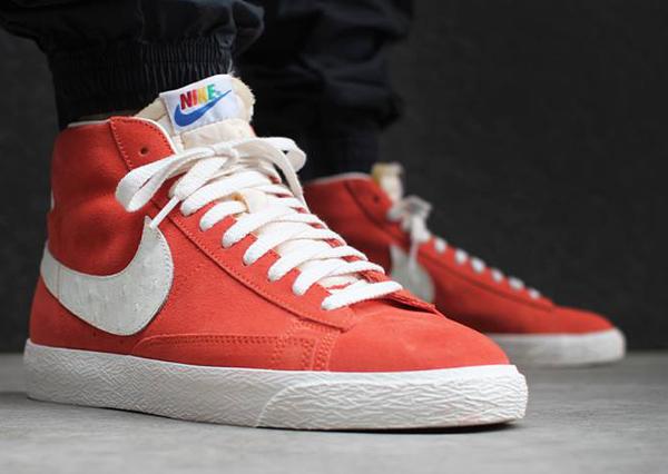 Nike Blazer Mid Vintage Rainbow aux pieds