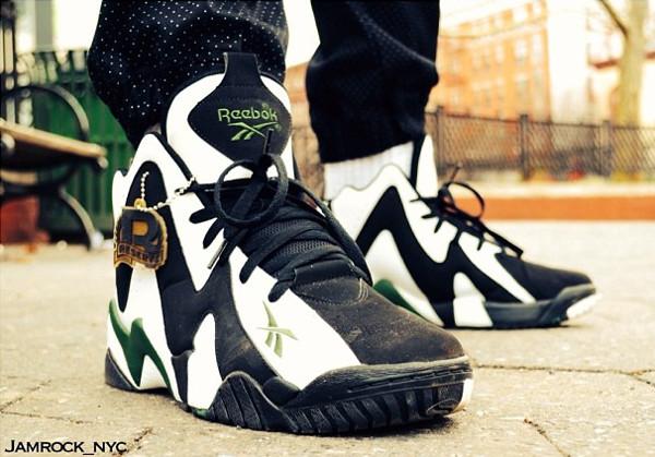 Reebok Kamikaze 2 Black White Green  - Jamrock_nyc