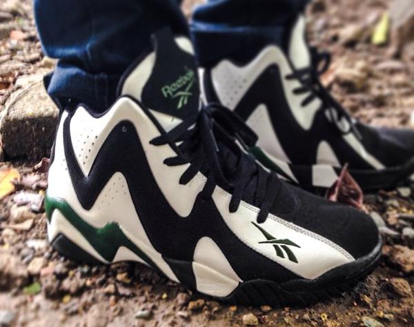 Reebok Kamikaze 2 Black White Green  - Mixmartinez