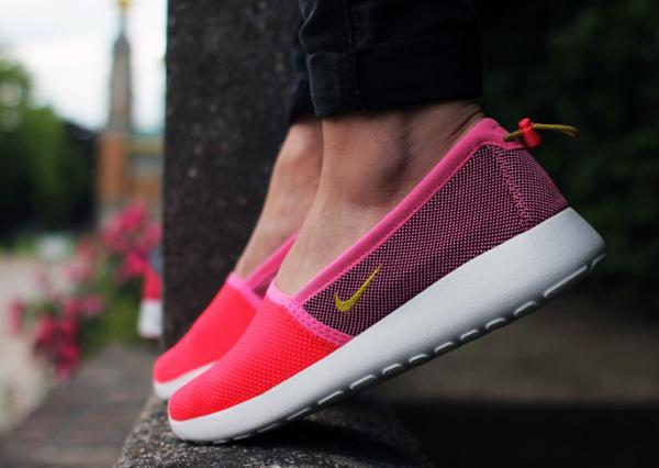 Espadrille Nike Roshe Run Slip On rose