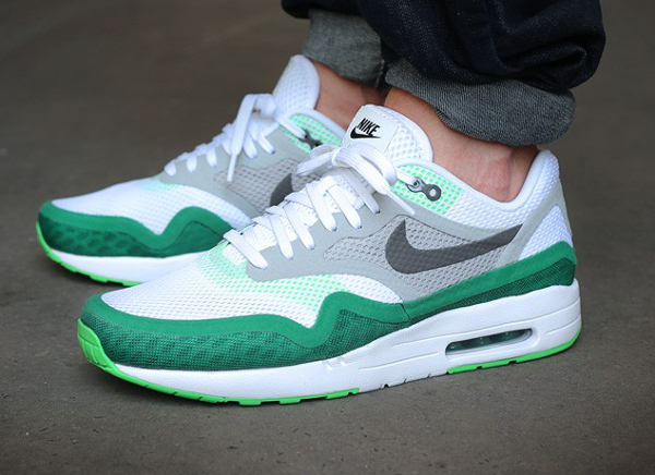best service 7f89f 2824a Nike Air Max 1 BR Breathe White Green (1)