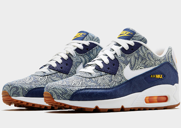nike air max 90 liberty of london dark blue crown