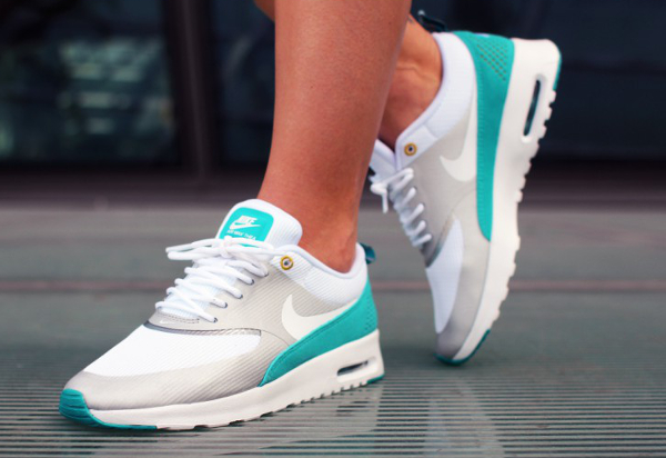 Nike Air Max Thea Metallic Silver White Tribe Green  (10)