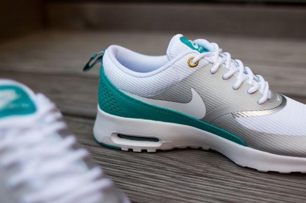 Nike Air Max Thea Metallic Silver White Tribe Green  (7)