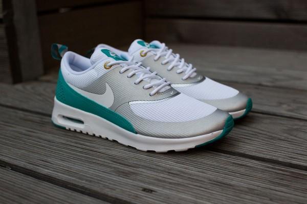 Nike Air Max Thea Metallic Silver White Tribe Green  (9)