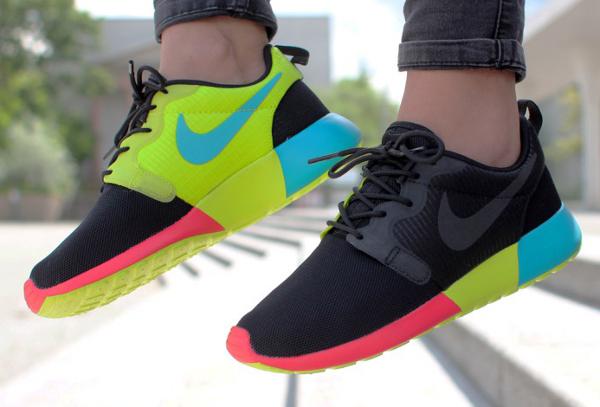 pxzen Nike Roshe Run Hyperfuse Black Venom Green