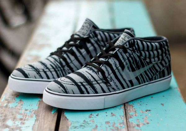 Nike SB Janoski Mid Grey Black Tiger  (1)
