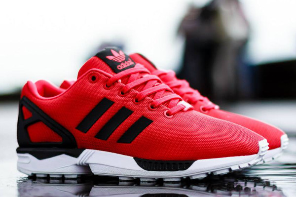 adidas zx flux rouge base tone