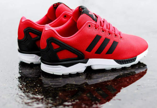 adidas zx flux infrared thermostat  adidas zx flux rouge base tone