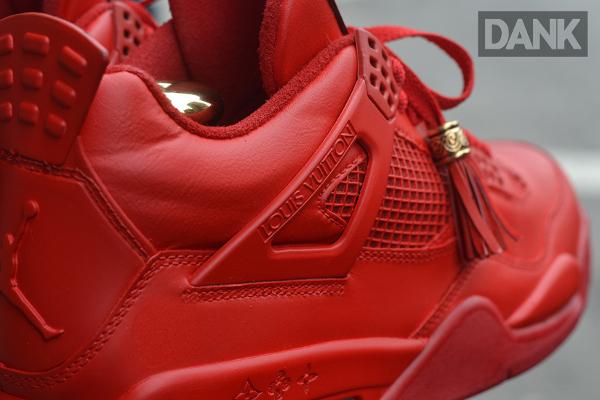 Air Jordan 4 x Louis Vuitton x Kanye West Don Rouge (2)