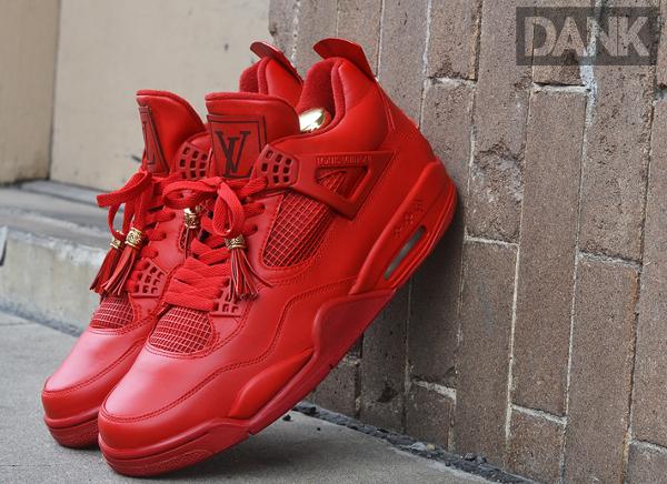 Air Jordan 4 x Louis Vuitton x Kanye West Don Rouge (3)