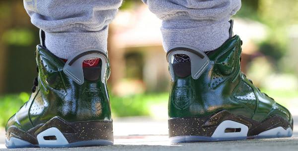 Air Jordan 6 Celebration Champagne aux pieds