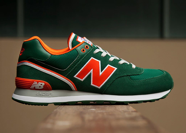 New Balance 574 Stadium Jacket (Green/Orange)