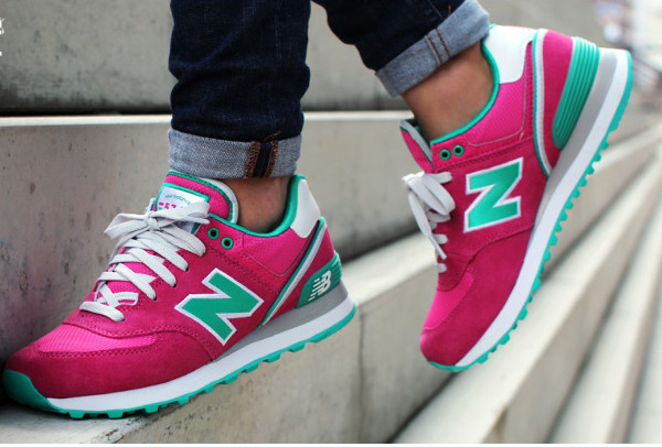New Balance 574 « Stadium Jacket » Pink/Blue