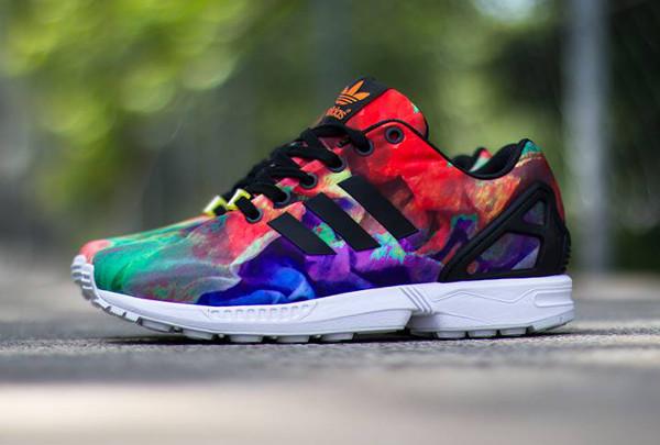 adidas zx flux pas cher multicolor