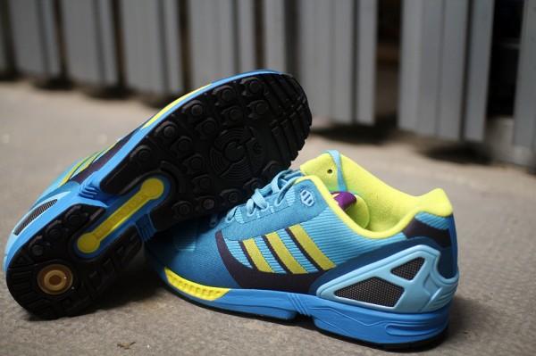 Adidas ZX Flux Weave OG 'Aqua' aux pieds (1)