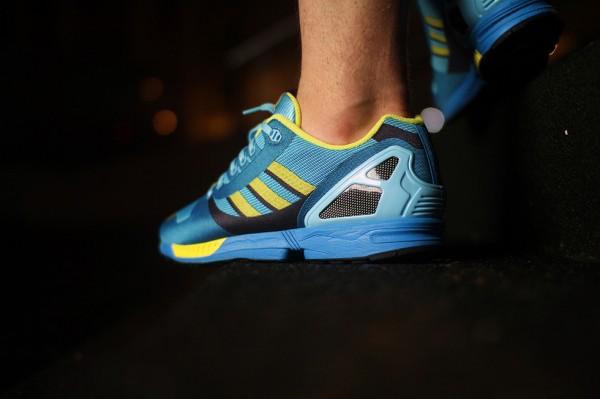 Adidas ZX Flux Weave OG 'Aqua' aux pieds (11)