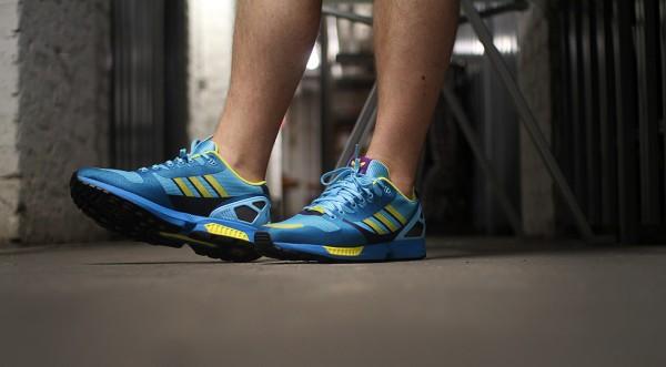 Adidas ZX Flux Weave OG 'Aqua' aux pieds (8)