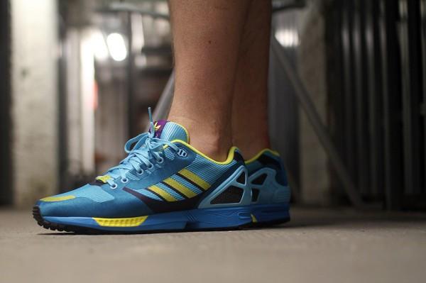 Adidas ZX Flux Weave OG 'Aqua' aux pieds (9)