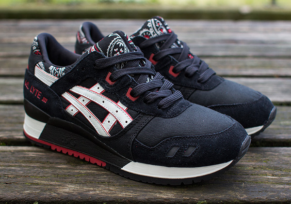 Asics gel Lyte 3 Black White Bandana (5)