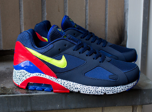 Nike Air 180 Safari Midnight Navy Red (6)