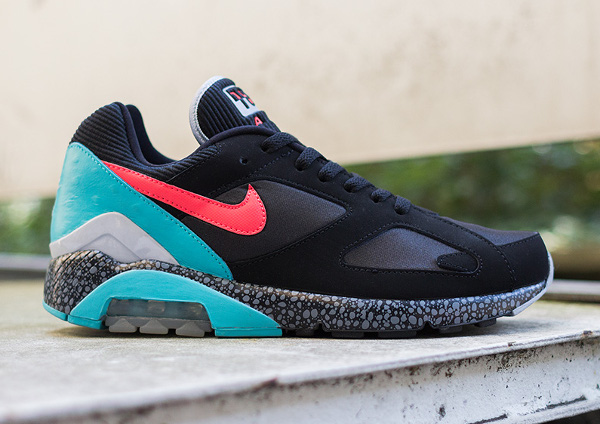 Nike Air 180 safari Black Laser Crimson (2)