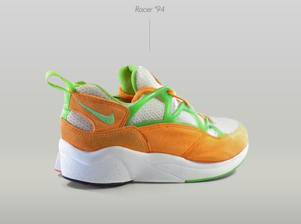 Nike Air Huarache Racer White-Fluorescent Lime-Citrus