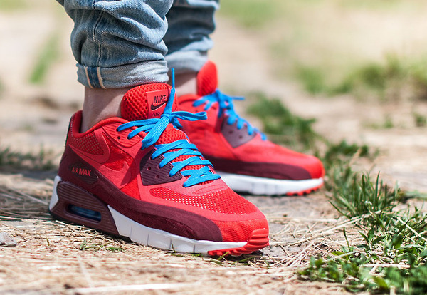 huge discount a41ae 52ca9 Nike Air Max 90 Breathe Chilling Red-Team Red-White (1)