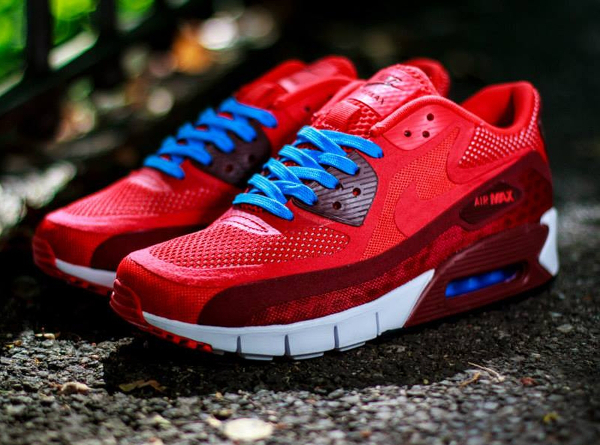 size 40 24eb1 bd492 Nike Air Max 90 Breathe Chilling Red-Team Red-White (2)