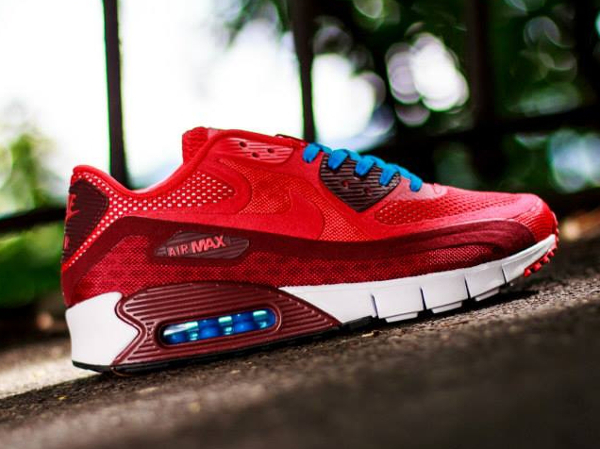 pretty nice b4844 c274a Nike Air Max 90 Breathe Chilling Red-Team Red-White (3)