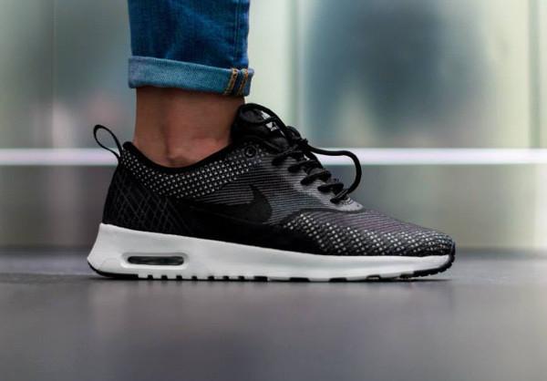 Nike Air Max Thea Jacquard (Dark Grey White Black Metallic Silver) (2)