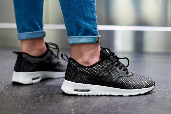 Nike Air Max Thea Jacquard (Dark Grey White Black Metallic Silver) (4)