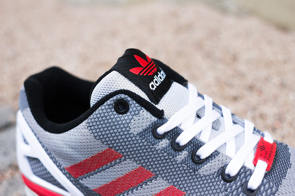 Adidas ZX Flux White Grey Black Red (3)