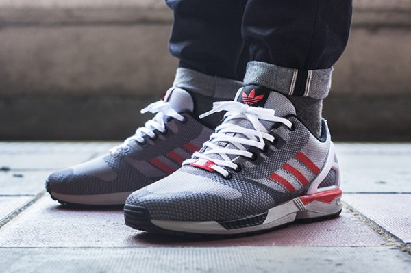 Adidas ZX Flux White Grey Black Red (5)