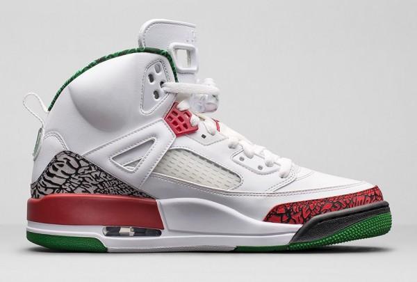 Air Jordan Spizike OG White Cement Grey Green Red Retro 2014 (4)