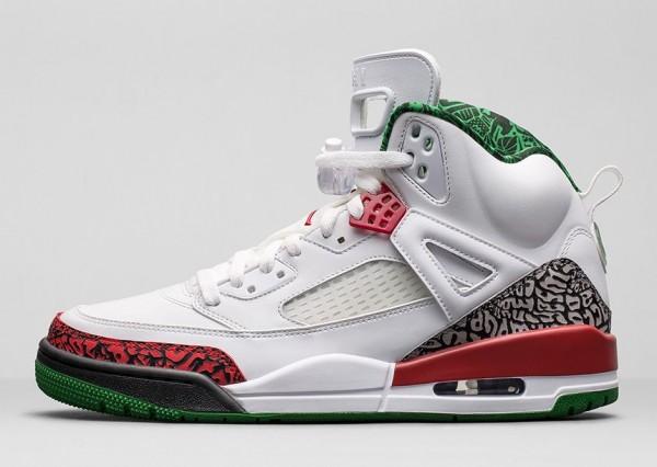 Air Jordan Spizike OG White Cement Grey Green Red Retro 2014 (5)