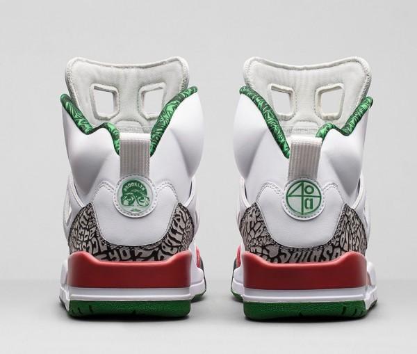 Air Jordan Spizike OG White Cement Grey Green Red Retro 2014 (6)