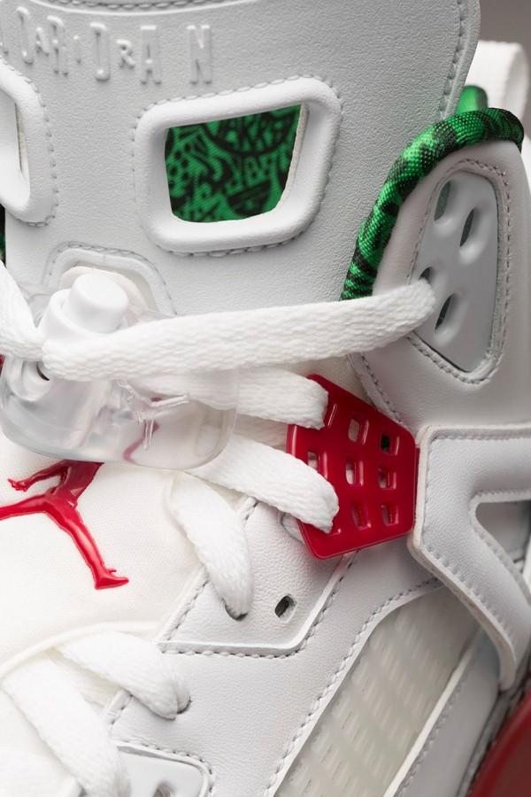 Air Jordan Spizike OG White Cement Grey Green Red Retro 2014 (8)