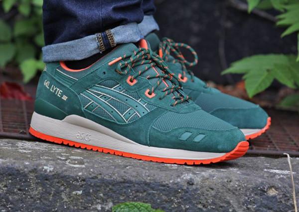 Asics Gel Lyte 3 'Dark Green' aux pieds