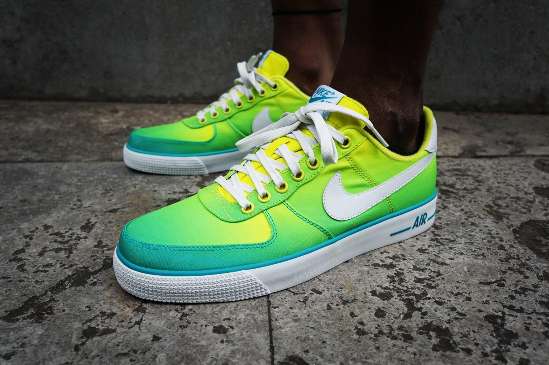 Men's Nike Air Force 1 AC BR QS Turbo Green Gradient Sneakers : D97t4319