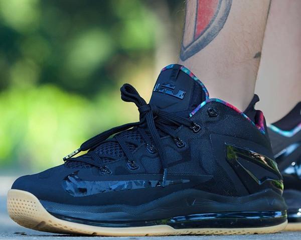 16-Nike Lebron 11 Low Max Black Gum - Crpurz